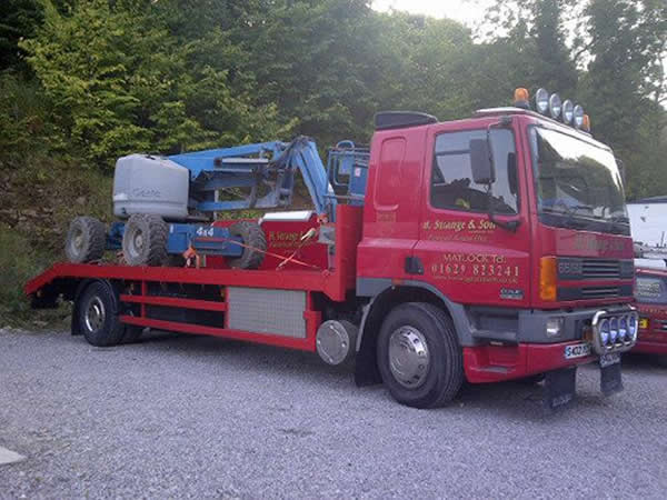 plant lorry with scissorlift